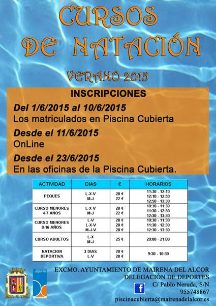 Las clases de natación tendrán lugar a partir del 1 de julio