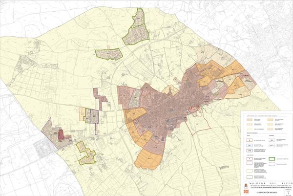 Clasificacion suelo Mairena del Alcor Urbanismo
