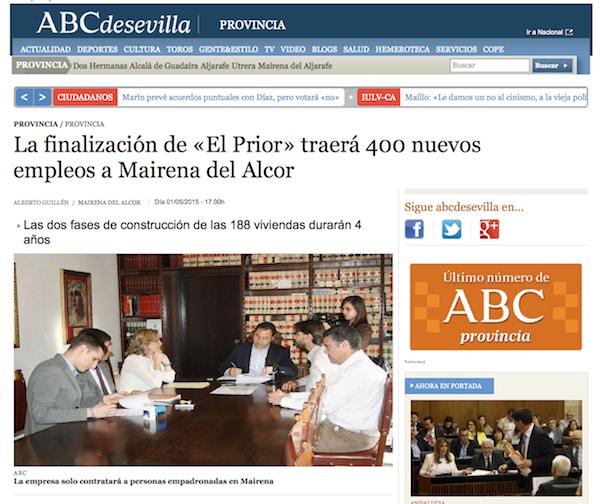 Convenio El Prior ABC Sevilla