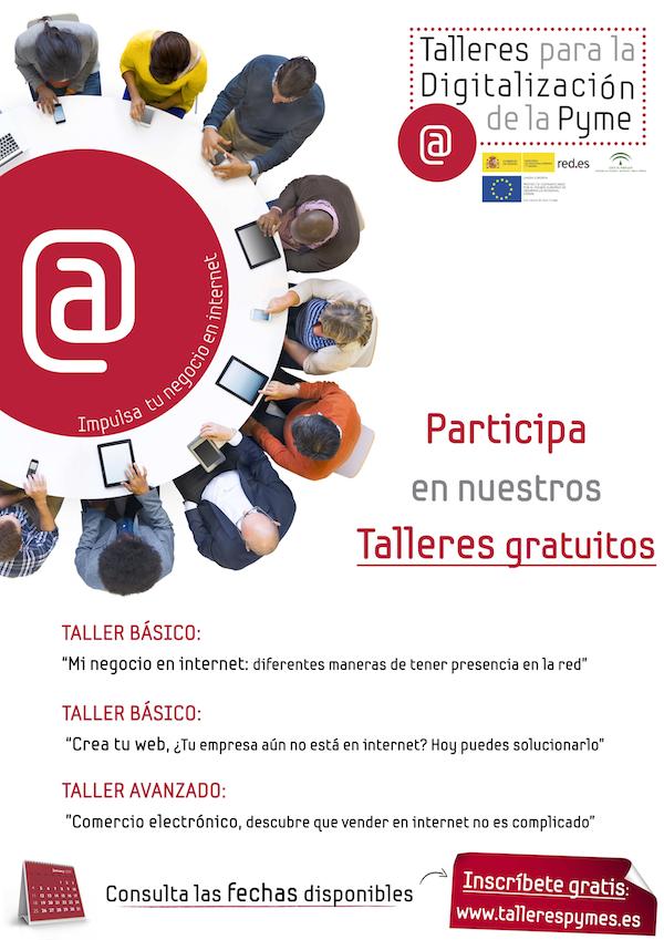 Cartel Talleres Digitalizacion Pyme Guadalinfo_600