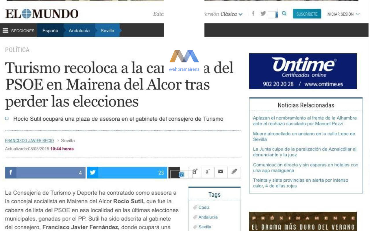 La Junta coloca a dedo a Rocío Sutil tras perder las elecciones