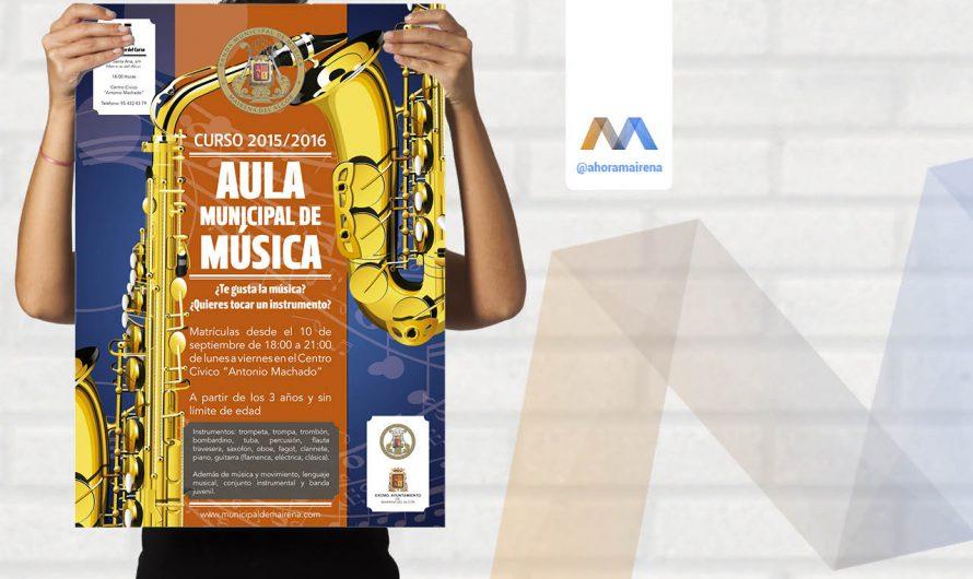 El Aula Municipal de Música abre el periodo de matriculación para el curso 2015/2016