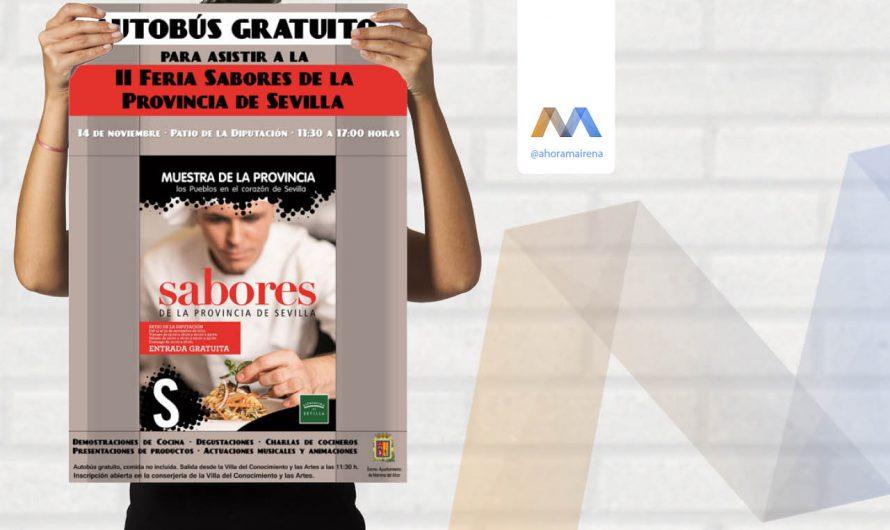Autobús gratuito para asistir a la II Feria Sabores de la Provincia de Sevilla