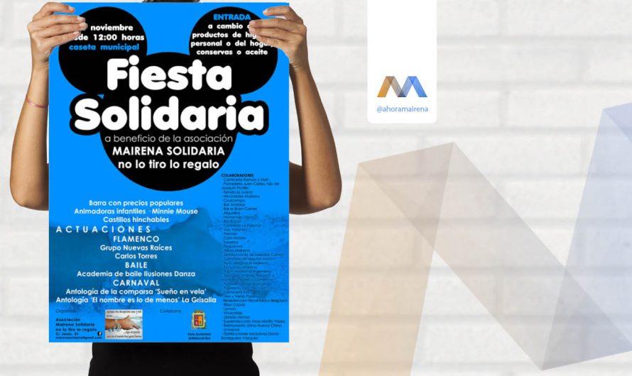 Fiesta solidaria a beneficio de la asociación Mairena Solidaria no lo tiro lo regalo