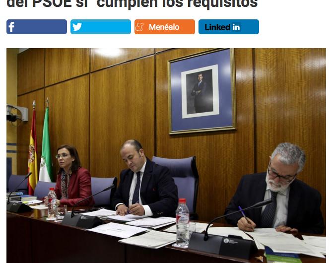 Mairena del Alcor salpicada de nuevo por un titular en prensa nacional sobre el PSOE local