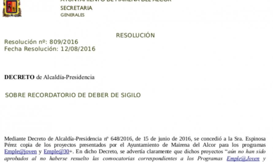 La Secretaria municipal advierte al PSOE por dar información engañosa sobre empleo