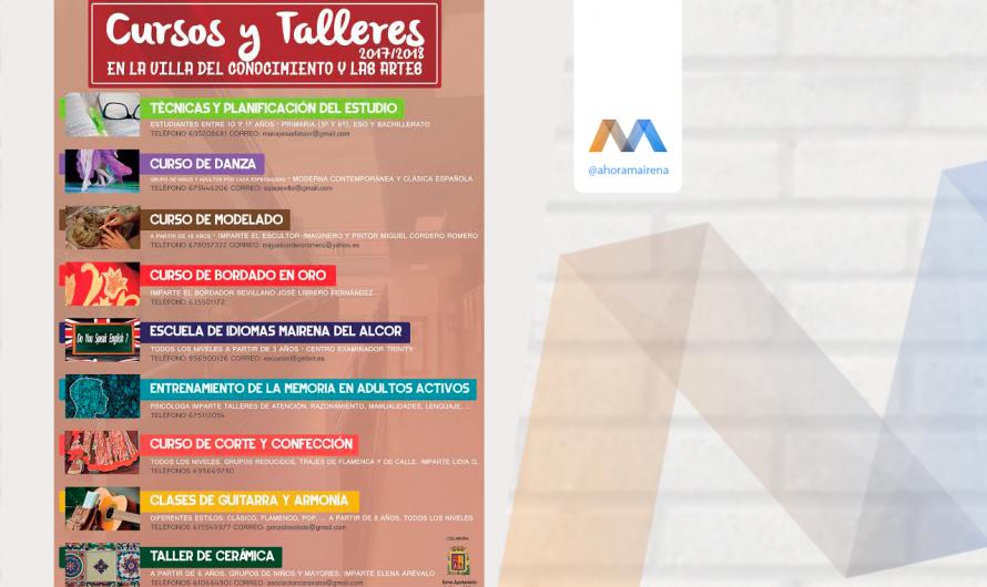 OFERTA DE CURSOS Y TALLERES EN LA VILLA DEL CONOCIMIENTO Y LAS ARTES