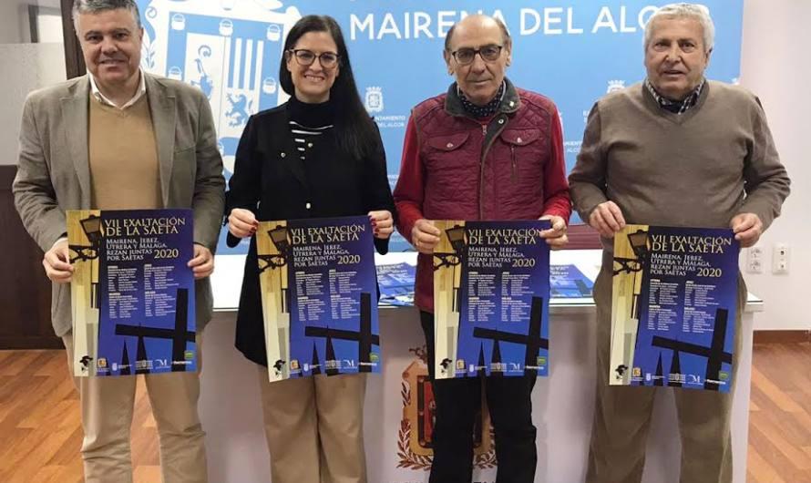 VII Exaltación de la Saeta Mairena, Utrera y Málaga rezan juntas por saetas