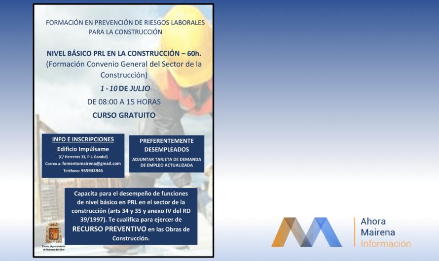 Formación Gratuita en Prevención de Riesgos Laborales para la Construcción