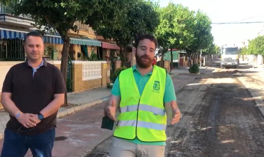 Obras de fresado y asfaltado en 14 calles de Huerta Retiro